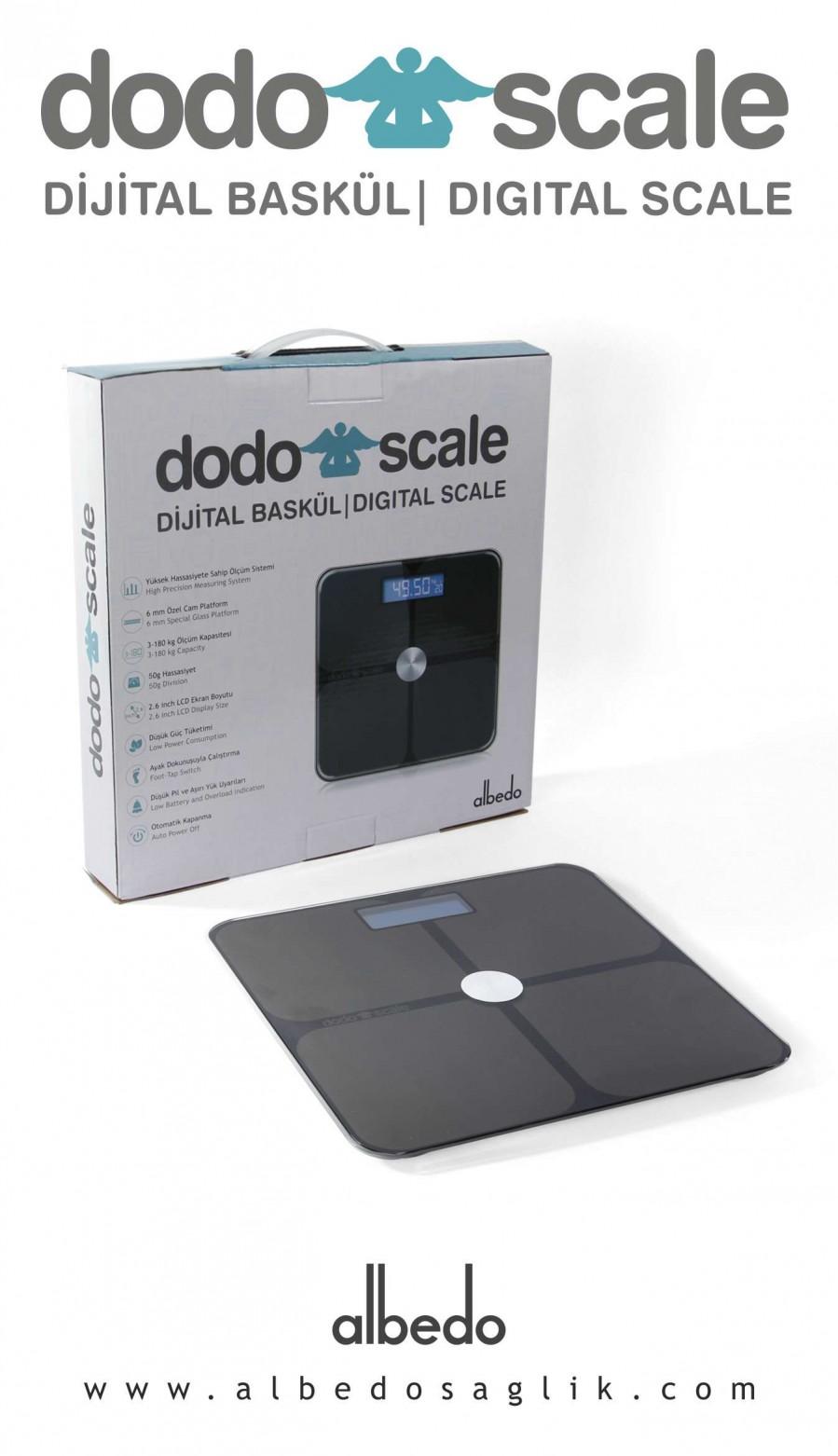 Dodo Scale Profesyonel Siyah